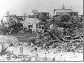 Damage from Hurricane Janet in 1955
