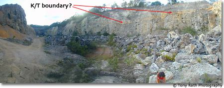 K/T boundary Exposed in Albion Island Quarry