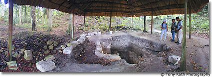 Burial Chamber at Chan Chich