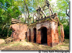 Old sugar mill at Lamanai archaeological site